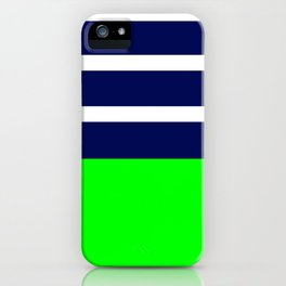 Summer Patio Perfect, Green, White, Navy iPhone Case