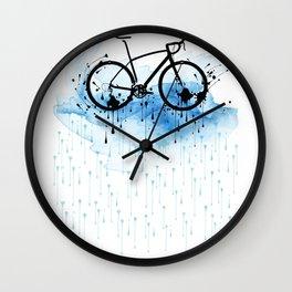 watercolor bicycle Wall Clock