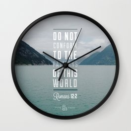 Romans 12:2 Wall Clock