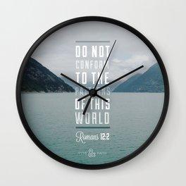 Romans 12:2 Wall Clock