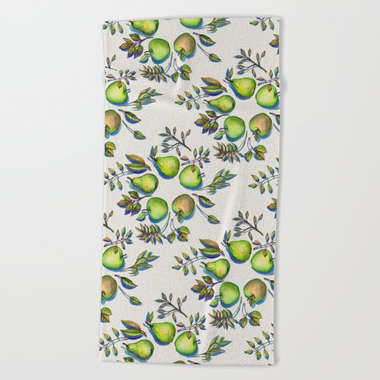Summer's End - apples and pears Beach Towel