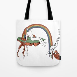 Cut From the Same Rainbow - Lovers Falling in Love Luv Lub Tote Bag