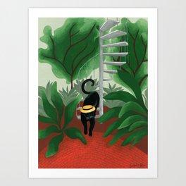 L'inconnu d'Hortus Botanicus Art Print