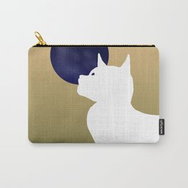 Moon and white cat Carry-All Pouch