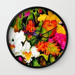 Tropical Exuberance Wall Clock