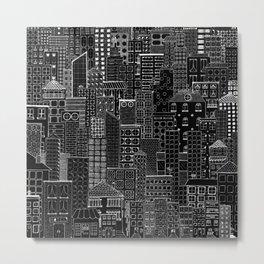 City Doodle (night) Metal Print