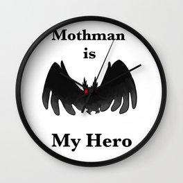 Mothman is my Hero Wall Clock