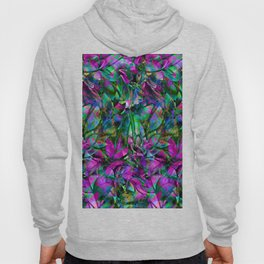Floral Abstract Stained Glass G276 Hoody