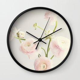 Floral and Vintage Ranunculus I Wall Clock