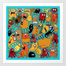 Creature Cluster Art Print