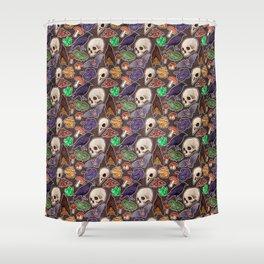 Spooky pattern Shower Curtain