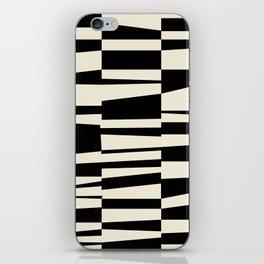 BW Oddities II - Black and White Mid Century Modern Geometric Abstract iPhone Skin