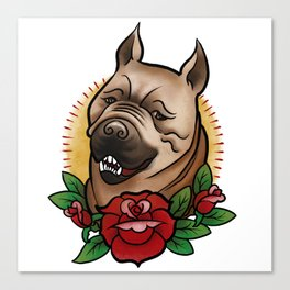 Mabari Love Canvas Print