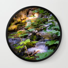 Up the Stream Wall Clock