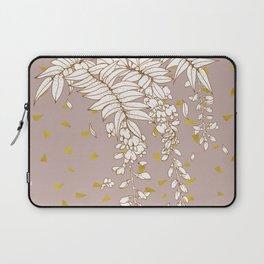 Wisteria in Gold Laptop Sleeve