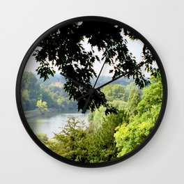 Richmond-upon-Thames river view Wall Clock