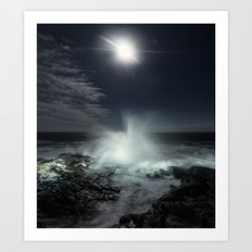 Risen Moonlight Art Print