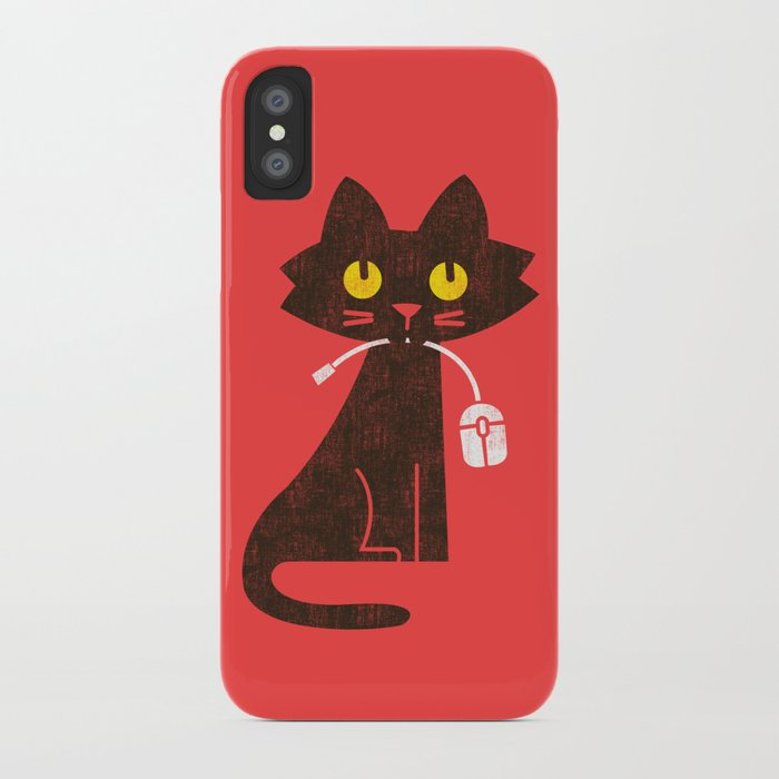 Fitz - Hungry hungry cat (and unfortunate mouse) iPhone Case