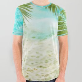 Tropical Beach All Over Graphic Tee