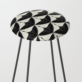 CRANE DESIGN - pattern - Black and White Counter Stool