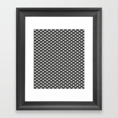 Retro garden 1 black Framed Art Print