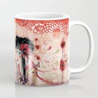 geisha Mugs featuring Geisha by Minasmoke