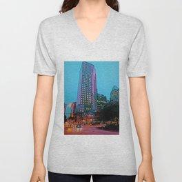 The City Never Sleeps Unisex V-Neck