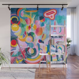 Robert Delaunay - Hommage à Blériot, esquisse - Abstract Colorful Art - a Bleriot Wall Mural