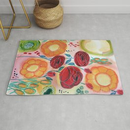 Roses and Daisies Rug