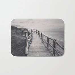 Black & white, beach photography, fine art print, long exposure b&w photograph Bath Mat