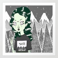 loll3 Art Prints featuring ☽ ZELINA ☾ by lOll3