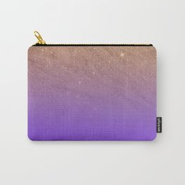 Elegant gold faux glitter chic purple gradient pattern Carry-All Pouch