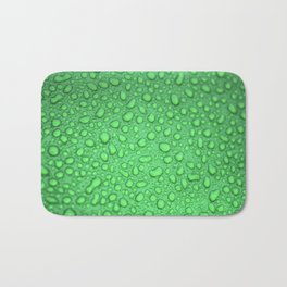 Green Raindrops HDR Bath Mat