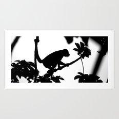 Monkey Silhouette Art Print