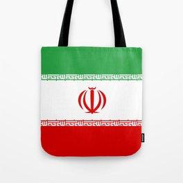 Iran Flag Three-Coloured Flag Tote Bag