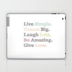 Inspiration Typography Quote Words Pastel  Laptop & iPad Skin
