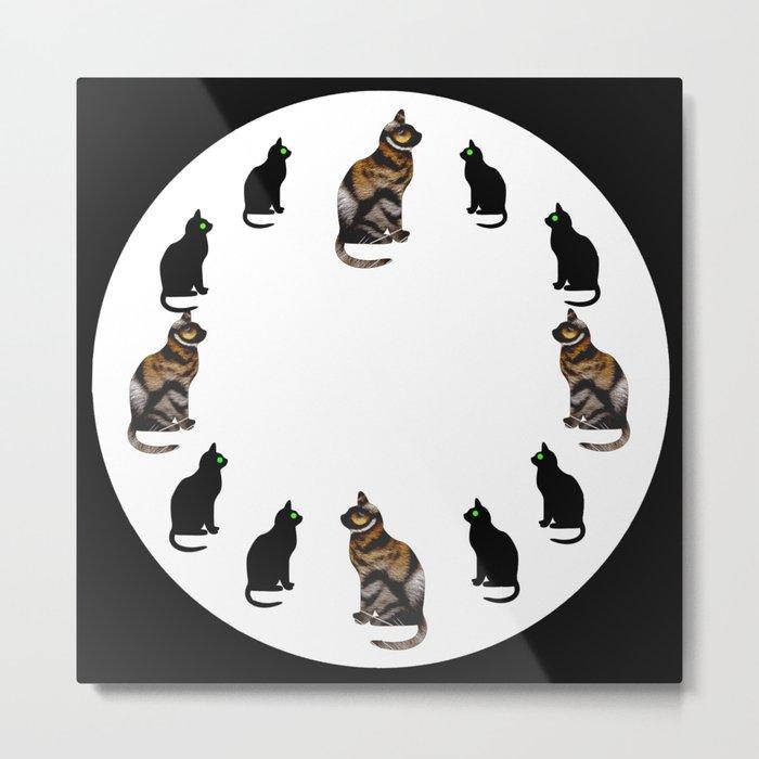CAT TIME Metal Print
