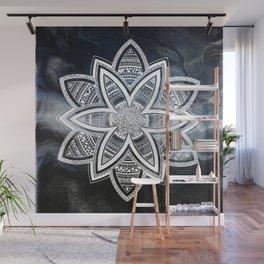 wholeness white mandala on sky Wall Mural