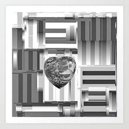 Jasper Heart in Vacancy Art Print
