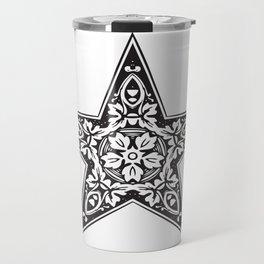BLACK DESIGN5 Abstract Art Travel Mug