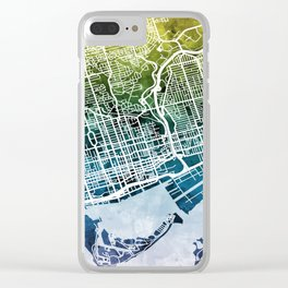 Toronto Street Map Clear iPhone Case