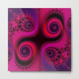 Psychedelic Spirals - fractal art Metal Print
