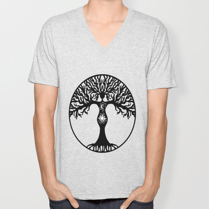 Goddess Tree Unisex V-Neck
