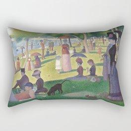 """Un dimanche après-midi à l'île de la Grande Jatte """"A Sunday on La Grande Jatte"""" Georges Seurat, 1886 Rectangular Pillow"""