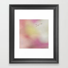 Feel the Soft Fluttering Framed Art Print
