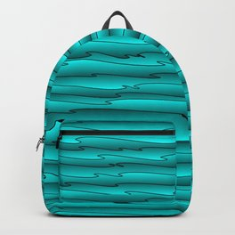 Curved flowing art light blue lines on a dark. Backpack