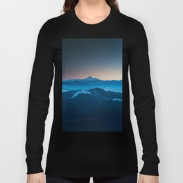 Foggy mountains panorama Long Sleeve T-shirt