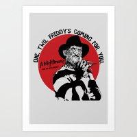 freddy krueger Art Prints featuring Freddy K quote by Buby87