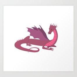Pink Dragon Art Print