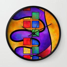 Desmelotipia - colourful cubes Wall Clock